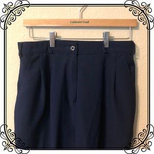 Petite navy dress trousers/slacks/pants
